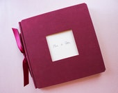 Wedding Guest book Burgundy Red Window Custom Handcrafted