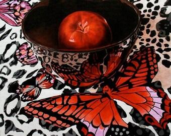 Butterfly Print Poster, Still Life Art Print, Kitchen Art, Wall Art, Home Decor