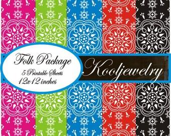 Folk  Paper Pack - No. 89