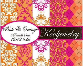 Pink and orange Paper Pack - No. 109
