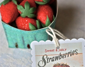 marzipan strawberries-strawberry till-berry till-berry baskets-wedding favors-party favors-marzipan favors-miniature strawberries