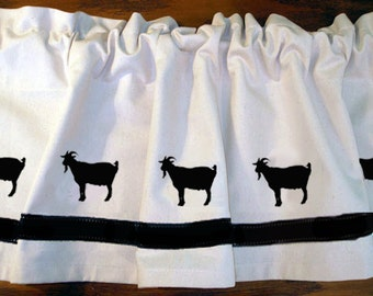 Goat Billy Goat Pygmy Goat Window Valance Curtain - Your Choice of Colors