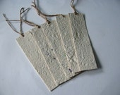 Plantable Seed Paper Bookmark in Ivory Embedded With Wildflower Seeds
