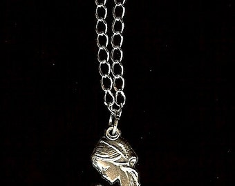 New Mother or Mother-to-Be Pendant in Silvertone FREE USA SHIPPING
