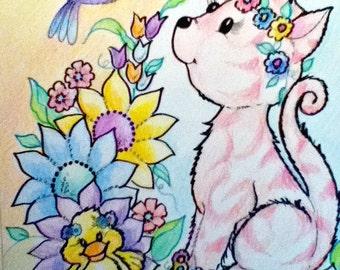 Kids Art Print Nursery Wall Art Whimsical Art for Kids