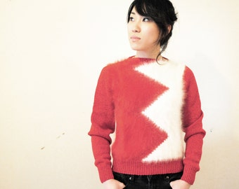 Avant Garde ZigZag Luxury Angora Christmas Sweater