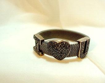 I Love You Expandable Sterling Bracelet