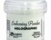 Holographic Embossing Powder,  Embossing Powder by Ranger, 1 oz Jar