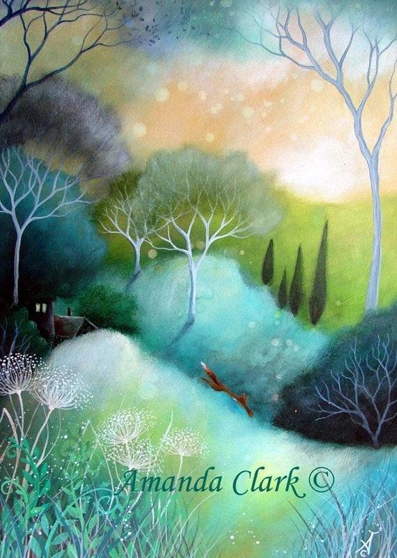 A fairytale  art print .'Homeward' by Amanda Clark