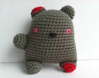 Amigurumi Crochet Zombie Teddy Bear Plushie Kawaii Zombie Teddy Bear Gift Under 25 Gift For Teen Boys Plush Zombie Teddy Bear Stuffed Zombie
