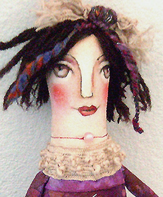 Original Art doll   Violet  Folkart hand made and hand painted OOAKFrom miliaart