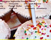 Vegan  Vanilla or Chocolate Cupcakes Gift Your Choice of Frosting Valentine's Day Birthday