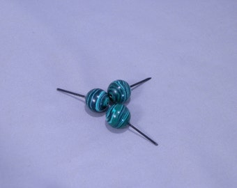 Medium malachite spheres (heavy lightweight)