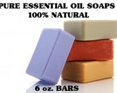 Aromatherapy Essential Oil Soaps - 4 Bars - 6 oz. Bars - Soaps - Organic Soaps - All Natural - Glycerin Soaps  - Aromatherapy Soaps