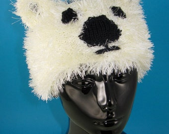 Instant Digital File pdf download knitting pattern - Polar Bear Headband pdf knitting pattern