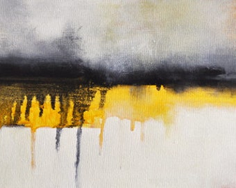 """White Reflections - Original modern abstract painting 8""""x20"""""""