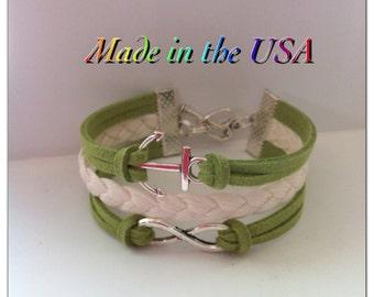 Infinity anchor bracelet, Infinity Never Ending Love and Anchor Bracelet