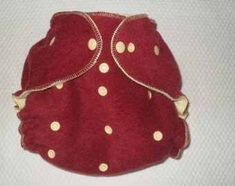 Maroon  fleece diaper  wrap