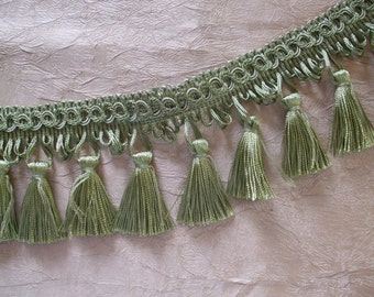 Heavenly Sage Green Tassel Fringe Trim
