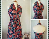 Swell Dame 1950s reproduction 2 piece playsuit shorts/top with vintage fabric in fabulous floral print