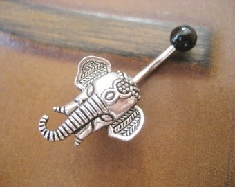 Belly Button Ring Jewelry, Elephant Belly Button Ring Jewelry Navel Piercing Stud Bar Barbell Belly Button Ring Jewelry Belly Button Ring