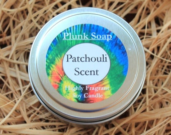 Patchouli Scented Soy Candle 6 oz