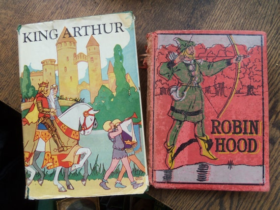 Vintage Robin Hood and King Arthur Books from by rustysecrets