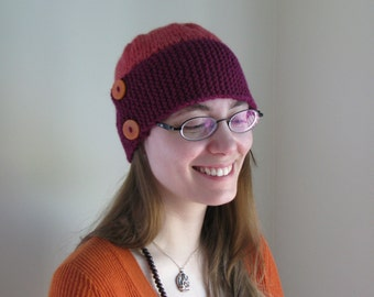 Knitting Pattern PDF - Women's Knit Cloche