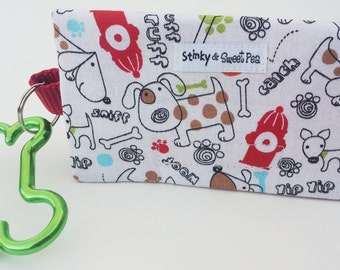 The Bag Buddy - Dog Mess Bag Pouch / Poop Bag Holder / Leash Purse / Dog Waste Bag / Pet Mess / Pet Accessories / Handmade / Poo / Gift Idea