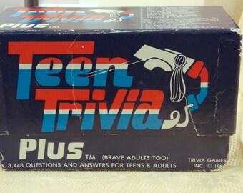 Vintage 1984 Teen Trivia Plus Game