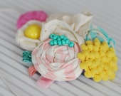 M2M Matilda Jane Good Hart (pink yellow and turquoise) statement headband