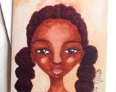 Afro Caribbean Greeting Card 'Tennis Girl'