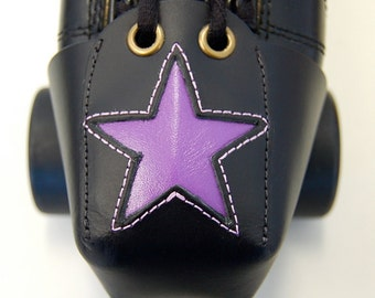Leather Toe Guards with Purple Star