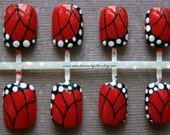 Japanese Nail Art-Monarch Butterfly Press On Nails