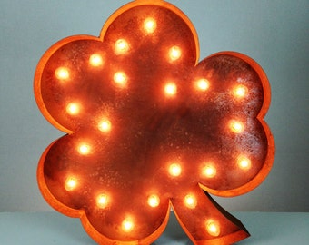 "SALE Shamrock - 24"" Vintage Marquee Lights"