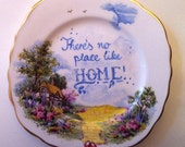 There's no place like home - The Wizard of Oz - Quote Art - Vintage Plate