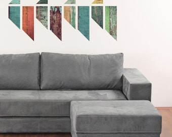 Vintage Colors Faux Wooden Panel Wall Decals