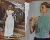 vintage 70s Heir-Loom ROSETTES pattern book women girls tops poncho dress evening halter evening blouse