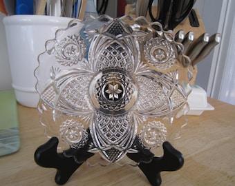 Crystal Bon Bon Tray Plate