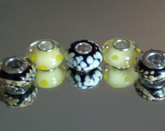 European Style Beads set of 5.
