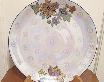Vintage Large Porcelain Serving Plate Vintage Lusterware Cake Plate, Bavaria