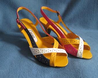 Vintage, Multi Colored. Corsina Shoes, Size 5 1/2