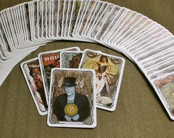 Steampunk Tarot Deck DIY Instant DOWNLOAD - Tabloid Size