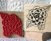 Camellia flower rubber stamp from oldislandstamps
