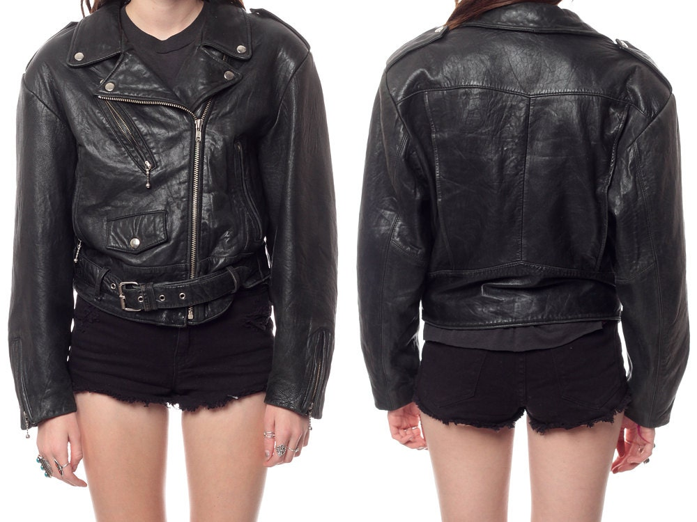 Length From Top Of Shoulder 22 Armpit To Waist 17 18 Sleeves 23 Leather BIKER Jacket