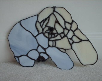 Stained Glass Old English Sheepdog Suncatcher