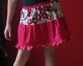 Elastic waisted ruffle skirt ..FREE SHIPPING..