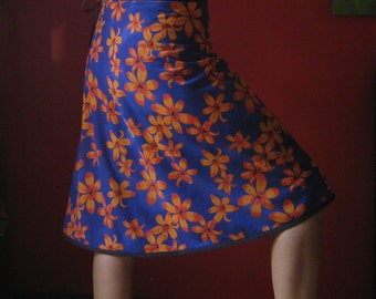 Knee length Wrap Skirt one size fits most (Medium - X/large) flowers