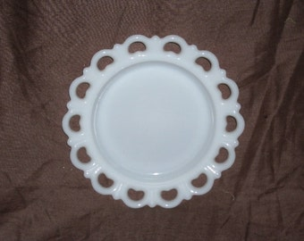 Lacey Milkglass Plate