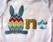 Boys Easter Shirt, Easter Bodysuit, One, Two or Four Year Old Shirt, Easter Bunny Shirt